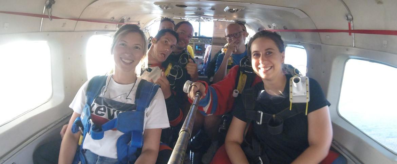 Avion parachute cadeau groupe Haguenau Strasbourg Wissembourg